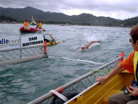 swimming in the magnetic island to townsville race 2008 photo
